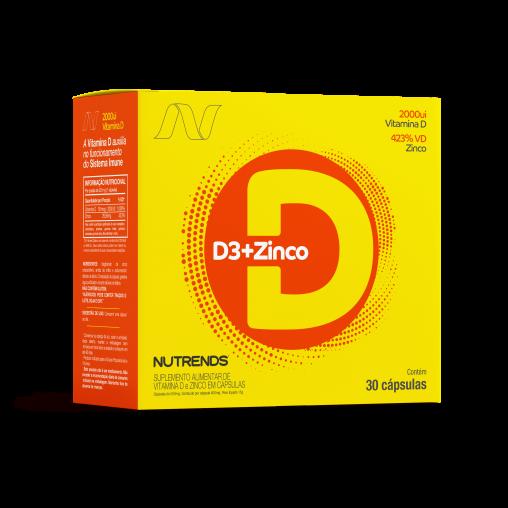 D3 2000UI + Zinco 30 cápsulas